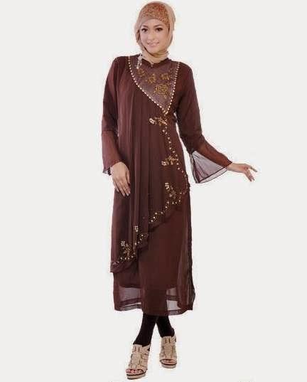 46 Model Baju Pesta Muslim Brokat Sifon Terbaru 2018