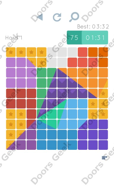Cheats, Walkthrough for Blocks and Shapes Hard Level 1