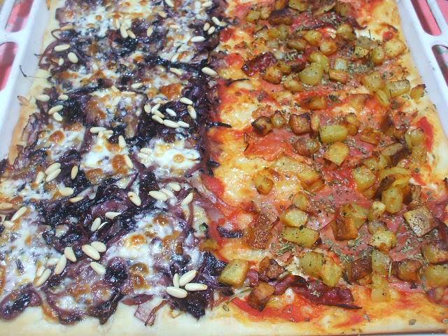 Pizza radicchio e taleggio cotta