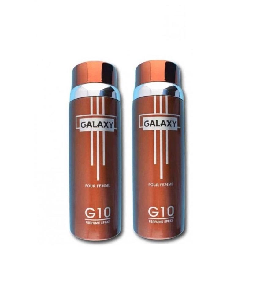 Pack Of 2 - Galaxy Plus G 10 Pour Femme Body Spray 200 ml