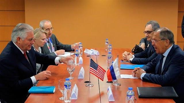 Rex Tillerson, Sergei Lavrov discuss damaged US-Russia ties