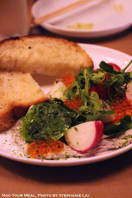 Smoked Mackerel Pâté at Dinnertable in New York City