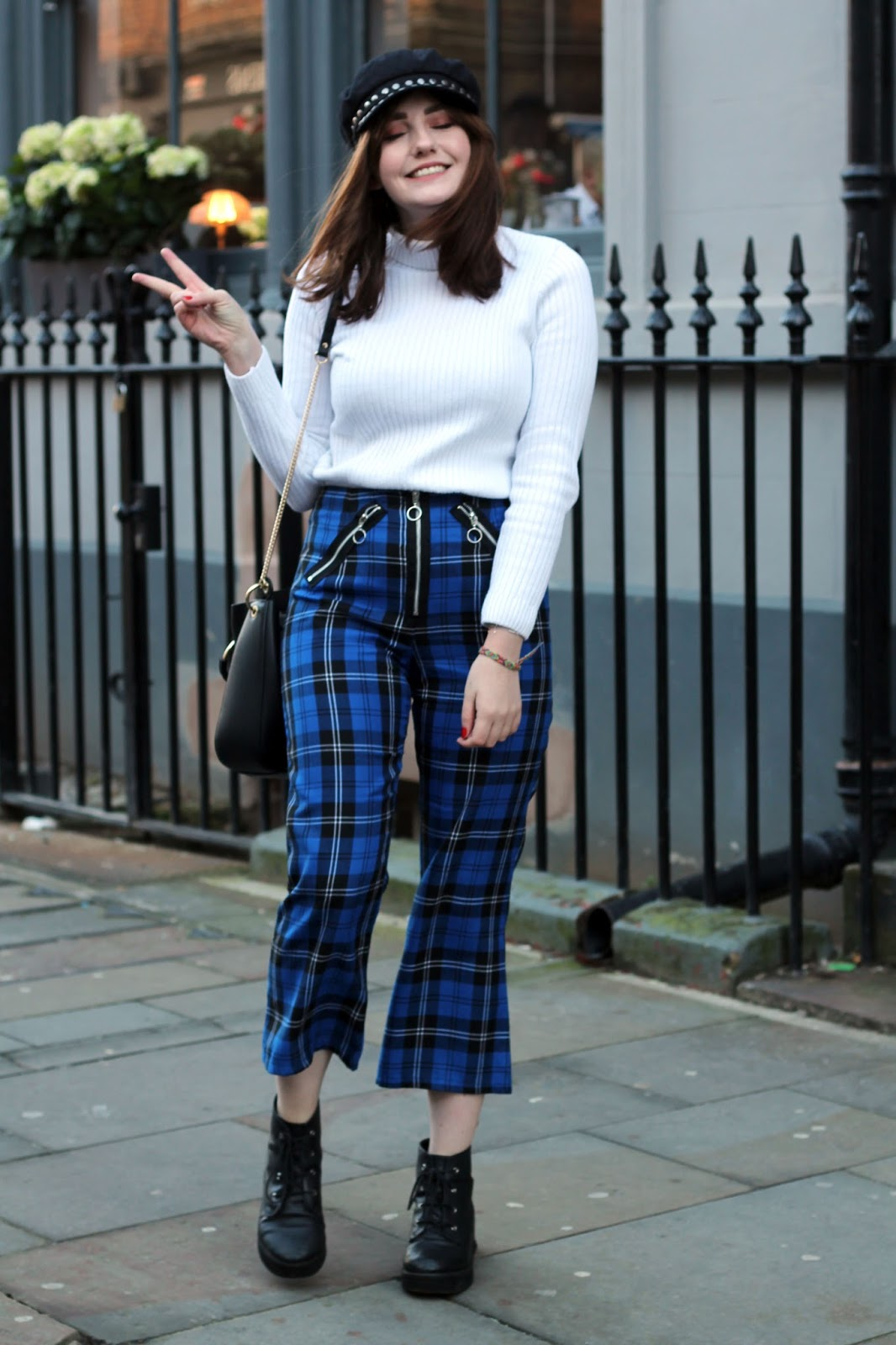 ragged priest tartan trousers JINX