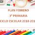 PLANEACIÓN FEBRERO 3°  PRIMARIA CICLO ESCOLAR 2018-2019
