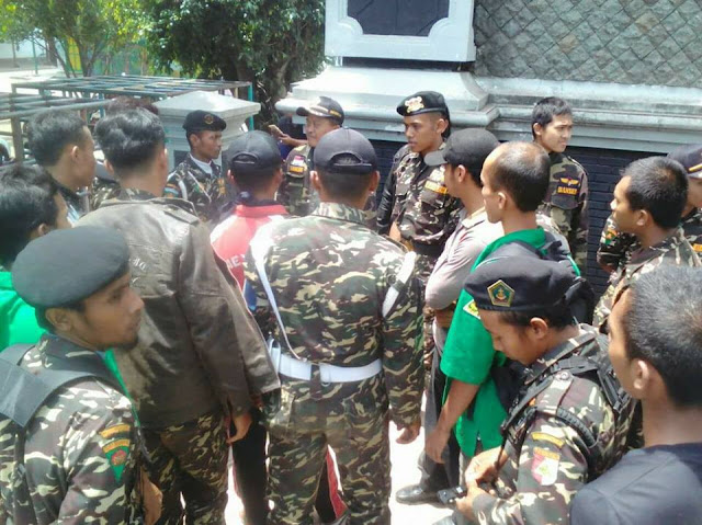 Banser Tulungagung dan Trenggalek Hadang Konvoi Khilafah HTI