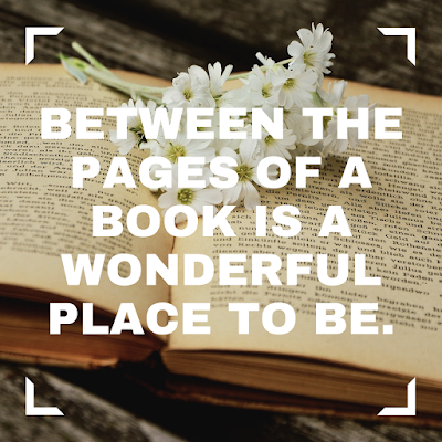 Between the pages of a book is a wonderful place to be. #read #books #favoriteplace #quote