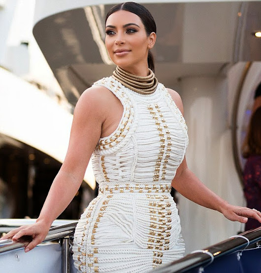 Kim attends MailOnline's Yacht Party During Cannes Lions 2014