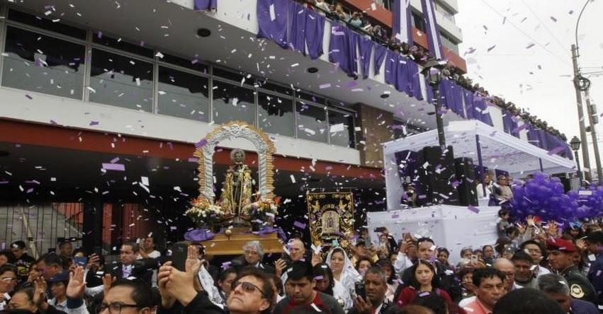 SEÑOR DE LOS MILAGROS 2018: Editora Perú y Agencia Andina rinden homenaje al Cristo Morado