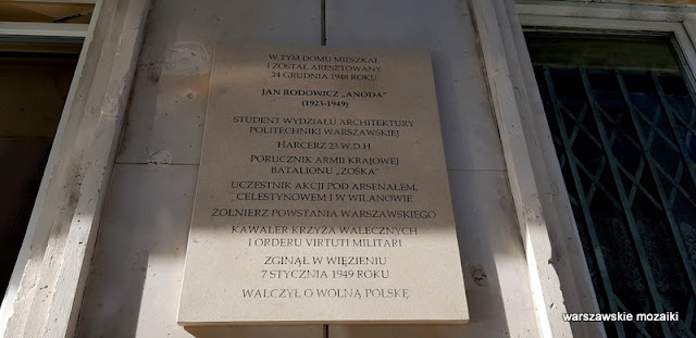 Warszawa Warsaw warszawskie ulice Wkamienica Juliana Glassa Jerzy Gelbard Roman Sigalin architektura wykusze marmur lata 30 przedwojenna kamienica Anoda