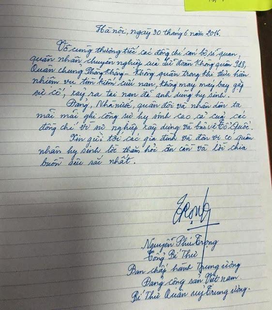 Thử xét đoán tính cách con người qua nét chữ của ngài Tổng Bí thư