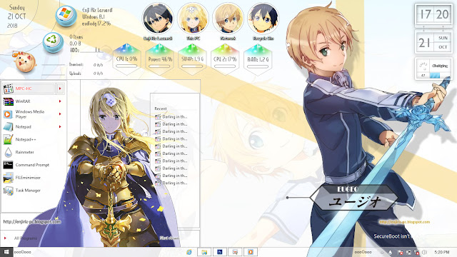 Windows 8/8.1 Theme Sword Art Online: Alicization by Enji Riz Lazuardi