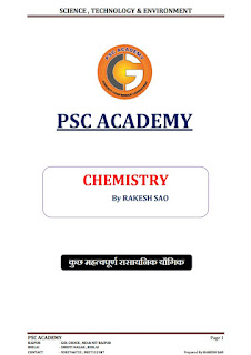 CHEMISTRY NOTE FOR COMPETITIVE EXAM