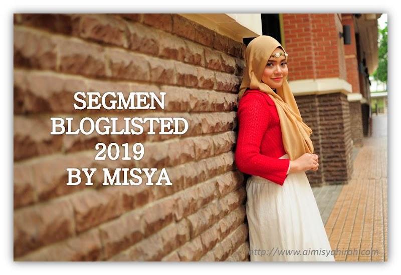 Segmen Bloglisted 2019 by Misya