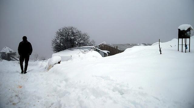 Το 8% της χώρας κάλυψε το χιόνι που έπεσε τα Χριστούγεννα
