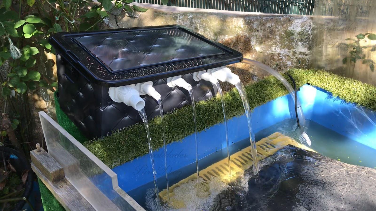 Mi jardin y mi huerto nuevo filtro casero para el for Filtro casero para estanque