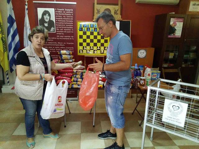 Διανομή τροφίμων από το Ίδρυμα Γεωργία Σαμαρτζή στην μνήμη της Φαίης Σωτηροπούλου