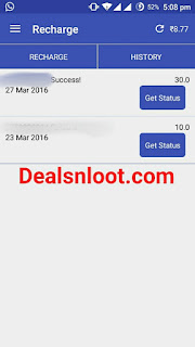Redeem Proof Free Recharge by watching Ads