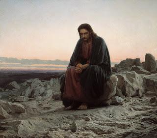 """Christ in the Wilderness"" by Ivan Kramskoy"