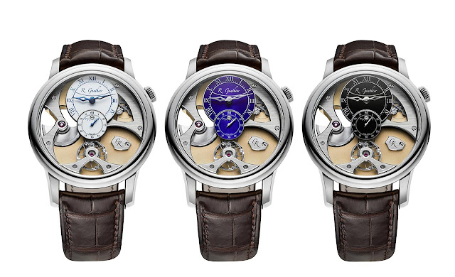 The threee new Romain Gauthier Insight Micro-Rotor White Gold Limited Editions