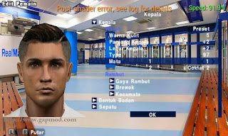 Texture Face Pack Real Madrid for PES PSP Android
