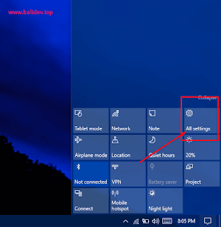 Setting windows 10