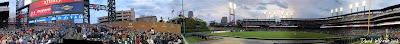 panorama, comerica park, detroit tigers, stadium, game