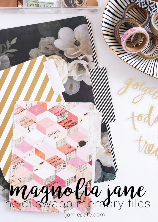 Heidi Swapp Magnolia Jane Collection Memory Files by Jamie Pate  |  @jamiepate for @heidiswapp