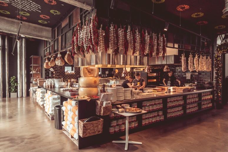 Wnętrze restauracji Orzo w Krakowie