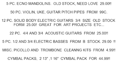 specials  wholesale catalogs  music gear