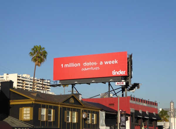 1 million dates a week Tinder billboard