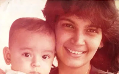 Rohan Childhood photo with his mother