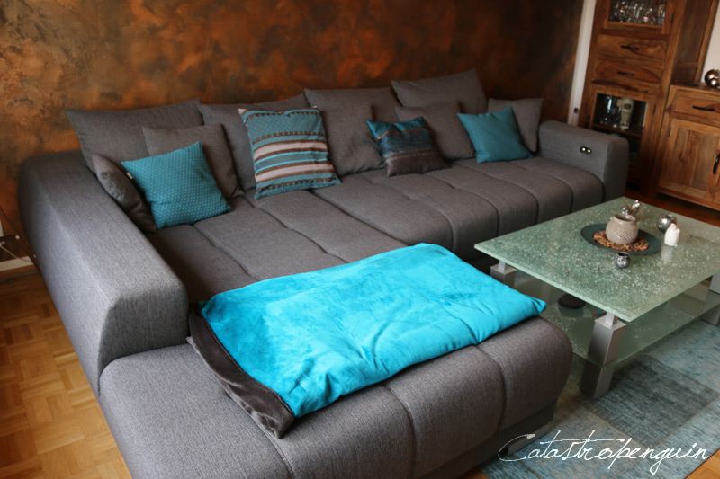 Petrol Wohnzimmer Style : Couch petrol cool foldout sofa green restored s with