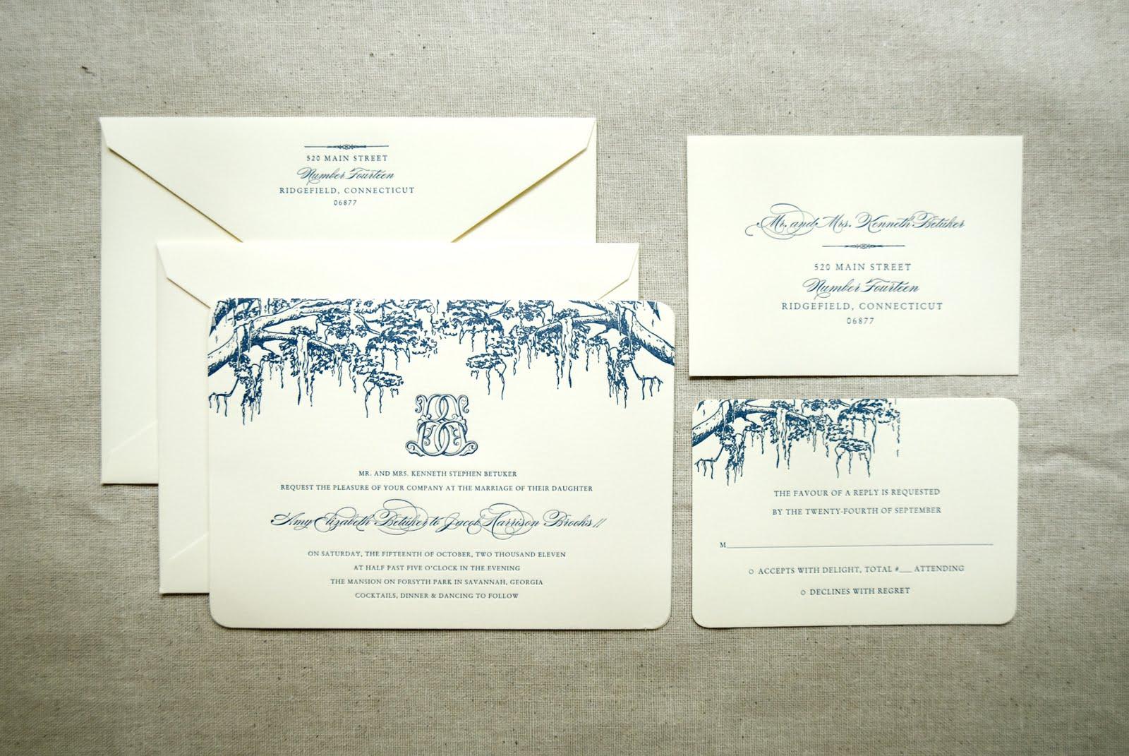 Wedding Invitation In Spanish Wording: Savannah Designer, Emily McCarthy : BLOG: Spanish Moss