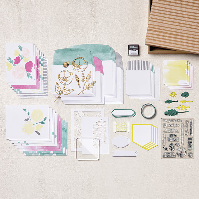 kit de cartes tout inclus douces notes Stampin' UP!