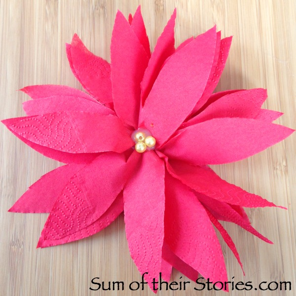 paper serviette poinsettias