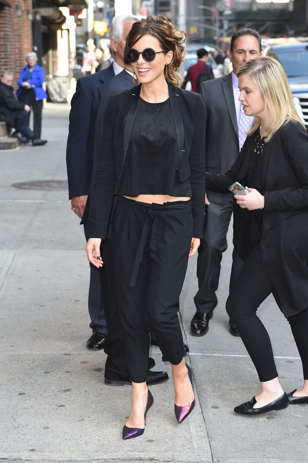 Kate Beckinsale look hot in Black dress Out And About In New York
