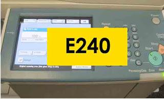 Cara Mengatasi Problem E240 Fotocopy Canon IR