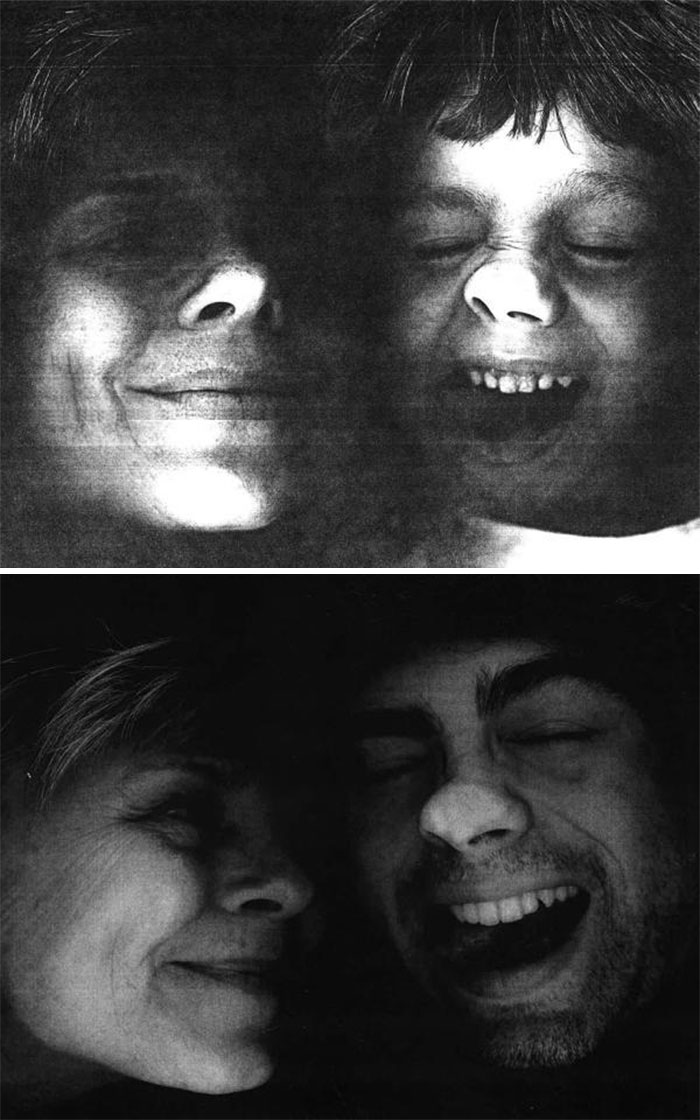 30 Beautiful Recreations Of Childhood Pictures - My Son And I Planted Our Faces On A Copier, Then And Now