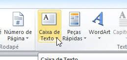 caixa de texto no word