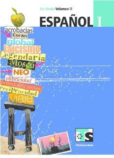 Libro de TelesecundariaEspañolIPrimer gradoVolumen IILibro para el Alumno2016-2017