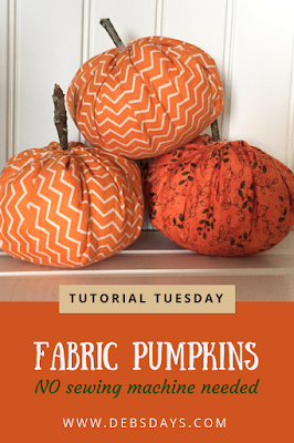 Quick and Easy Stuffed Fabric Pumpkins Craft Project