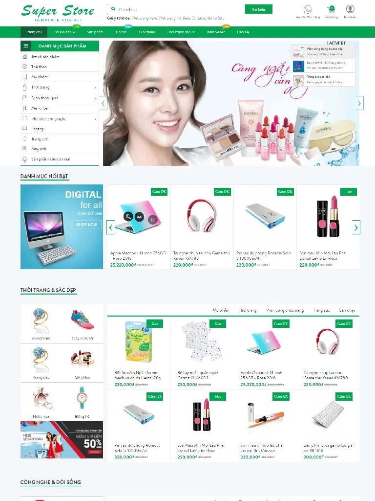 Template blogspot bán hàng Super Store - Ảnh 1