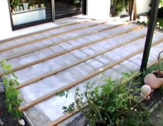 Memasang Decking Kayu 10