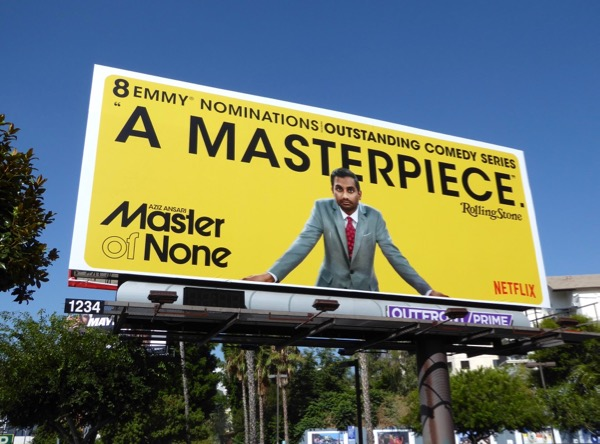 Master of None season 2 Masterpiece Emmy billboard
