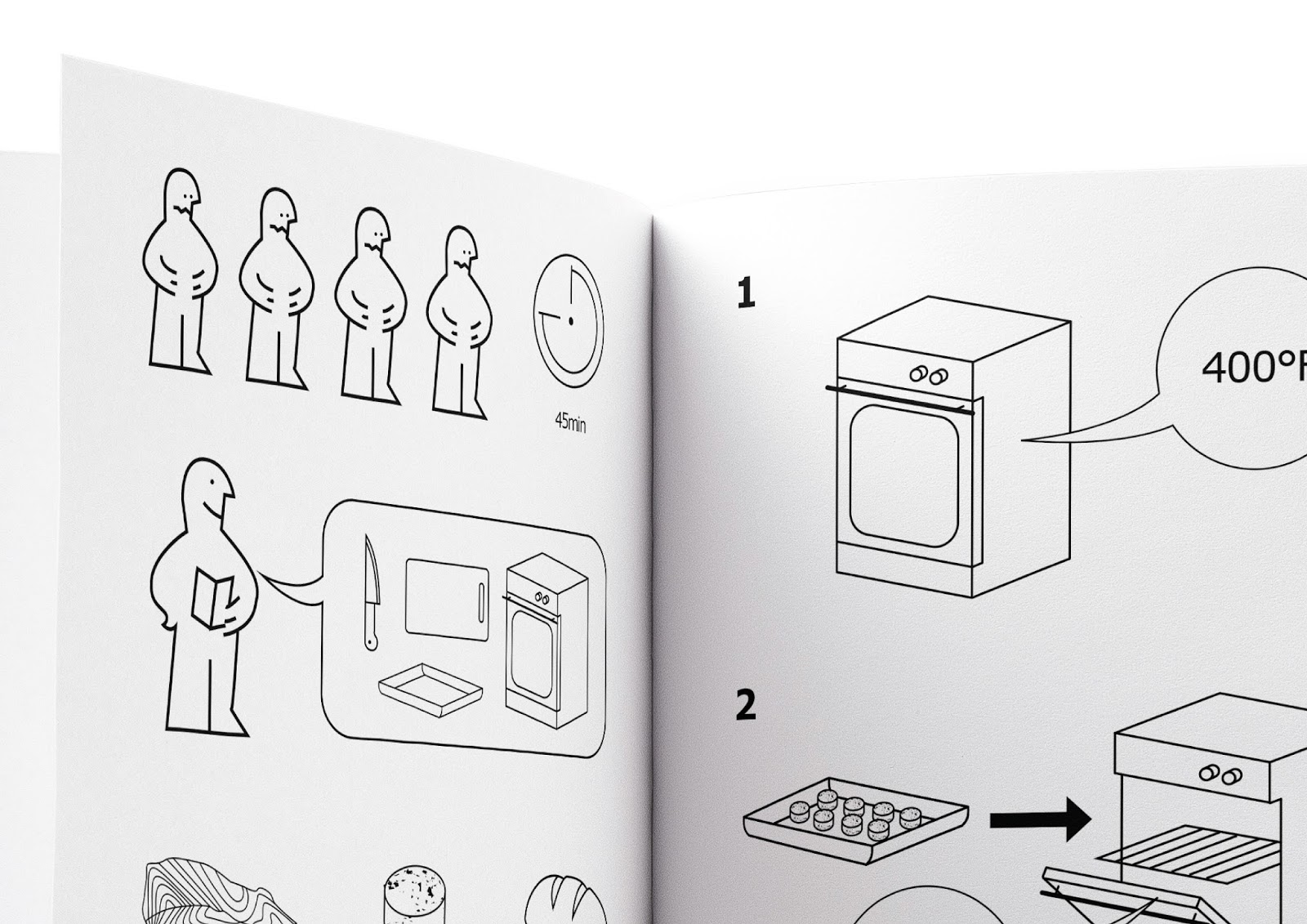 Ikea cookbook on packaging of the world creative package design the same follows for every recipe presented in the book with this visual system it can be explained how many are you cooking for what do you need to use pooptronica Images