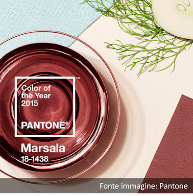 Marsala, colore Pantone del 2015