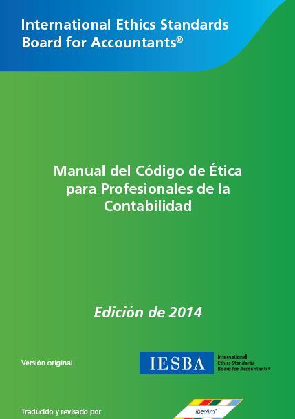 DESCARGAR MANUAL DE CODIGO DE ETICA PARA PROFESIONALES DE LA CONTABILIDAD 2014 ESPAÑOL/INGLÉS