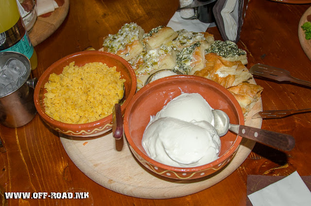 Traditional Macedonian food - Korab Trnica Complex - Mavrovo National park - Macedonia