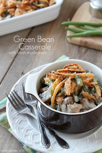 Green Bean Casserole with Fresh Mushrooms