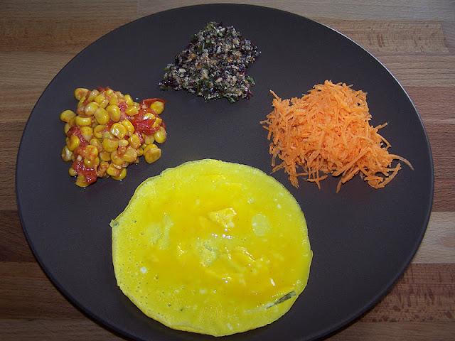 Omelette au pesto d'algues